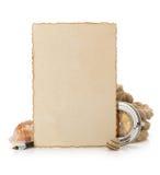 Oud document en overzees concept Stock Fotografie