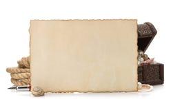 Oud document en overzees concept Stock Foto's