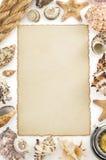 Oud document en overzees concept Royalty-vrije Stock Foto