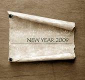 Oud document met 2009 Royalty-vrije Stock Foto's