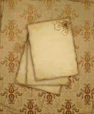 Oud document met bloem Royalty-vrije Stock Fotografie