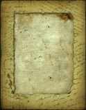 Oud document met de met de hand geschreven tekst stock afbeeldingen