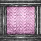 Oud document met de roze harten Stock Foto's