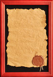 Oud document met een wasverbinding Royalty-vrije Stock Foto