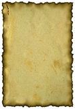 Oud document met gebrande randen. Royalty-vrije Stock Afbeeldingen