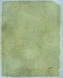 Oud document met gedetailleerde textuur Royalty-vrije Stock Afbeeldingen