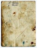 Oud document met gekrabbel Stock Afbeelding