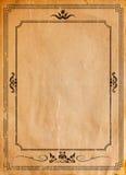 Oud document met gevormd uitstekend kader stock foto's