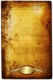 Oud document met gouden frame Stock Foto's
