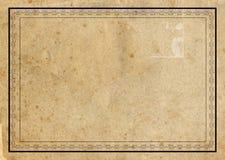 Oud document met grens Stock Fotografie