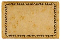 Oud document met grens Stock Foto's