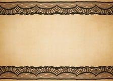 Oud document met kantontwerp Royalty-vrije Stock Afbeelding