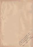 Oud Document met Met de hand geschreven Tekstachtergrond Stock Fotografie