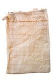 Oud document met papier-klem stock foto