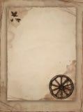 Oud document met schets Stock Afbeelding