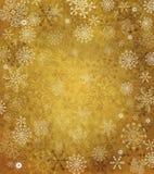 Oud document met sneeuwvlokken Stock Afbeelding