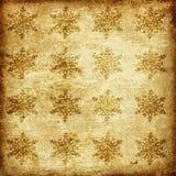 Oud document met sneeuwvlokken Royalty-vrije Stock Afbeelding