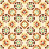 Oud document naadloos patroon met kleurrijke retro ringen royalty-vrije illustratie