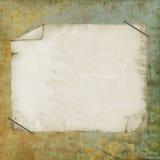 Oud document op geweven achtergrond Stock Afbeeldingen