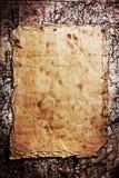 Oud document op grungeachtergrond Royalty-vrije Stock Fotografie
