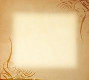 Oud Document op het Ornament van het Frame stock fotografie