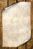 Oud document op hout Royalty-vrije Stock Foto's