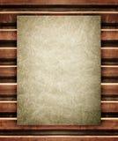 Oud document op houten textuur Stock Afbeeldingen