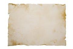 Oud document op wit Stock Afbeeldingen