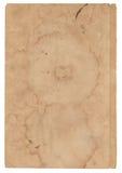 Oud document op witte achtergrond Stock Afbeeldingen