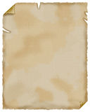 Oud document. Perkament. Stock Foto