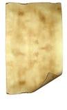 Oud document perkament als achtergrond Stock Fotografie