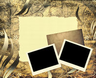 Oud documenten malplaatje Stock Afbeeldingen