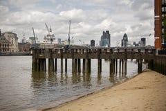 Oud dok in centrum van Londen, het UK stock fotografie