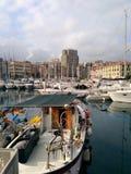 Oud dok van Savona stock foto