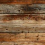 Oud donker uitstekend houten muur achtergrondtextuur vierkant formaat Stock Foto