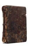 Oud doorstaan boek met staines Royalty-vrije Stock Foto's