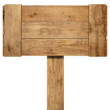 Oud doorstaan houten teken Royalty-vrije Stock Afbeeldingen