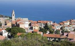Oud dorp Cipressa Royalty-vrije Stock Foto
