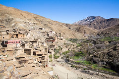Oud dorp in de Atlasbergen stock afbeeldingen