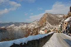 Oud dorp in de bergen Stock Foto