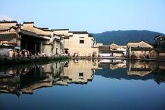 Oud dorp hongcun, anhui royalty-vrije stock fotografie