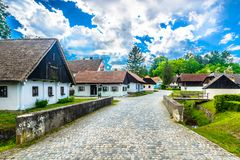 Oud dorp Kumrovec in Kroatië Stock Foto