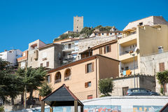 Oud dorp, Sardinige, Italië Stock Foto