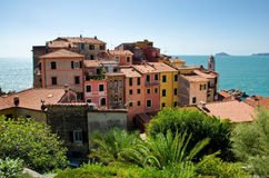 Oud dorp van Tellaro, Italië royalty-vrije stock afbeelding