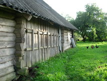 Oud dorpshuis Royalty-vrije Stock Fotografie