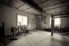 Oud dorpshuis in Polen Stock Foto's