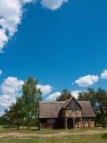 Oud dorpshuis in Polen Royalty-vrije Stock Afbeeldingen