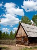 Oud dorpshuis in Polen Royalty-vrije Stock Foto