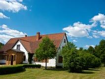 Oud dorpshuis in Polen Royalty-vrije Stock Foto's