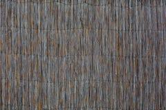 Oud droog riet verbindend met metaaldraad Royalty-vrije Stock Afbeeldingen